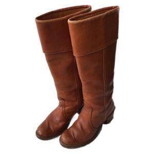 Vtg Frye 8503 cognac leather size 7B boots